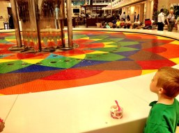 Colorful fountain at Marina Mall