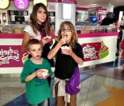 Frozen Yogurt Factory treat at Marina Mall.