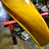 4th coat of Canoe Yellow.